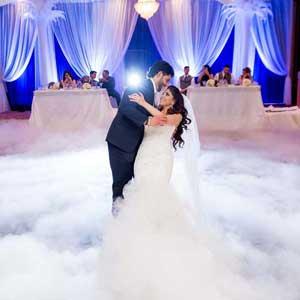 Szárazjég esküvőre - Esküvő DJ-vel